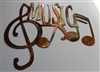 Music Metal Wall Art Accent