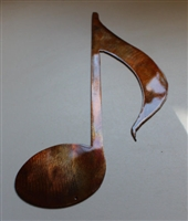 Musical Note Copper/Bronze Plated Metal Decor