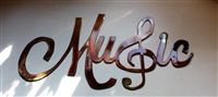 METAL WALL ART DECOR MUSIC with Treble Clef Metal Wall Art
