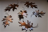 Natural Looking Metal Oak Leaves (6) Counter/Tabletop Decor