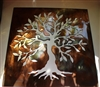 "Olive Tree Panel 17"" --Tree of Life Metal Wall Art Decor"