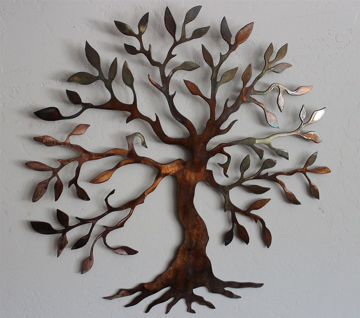 Olive tree tree of life metal wall art for Deco metal mural
