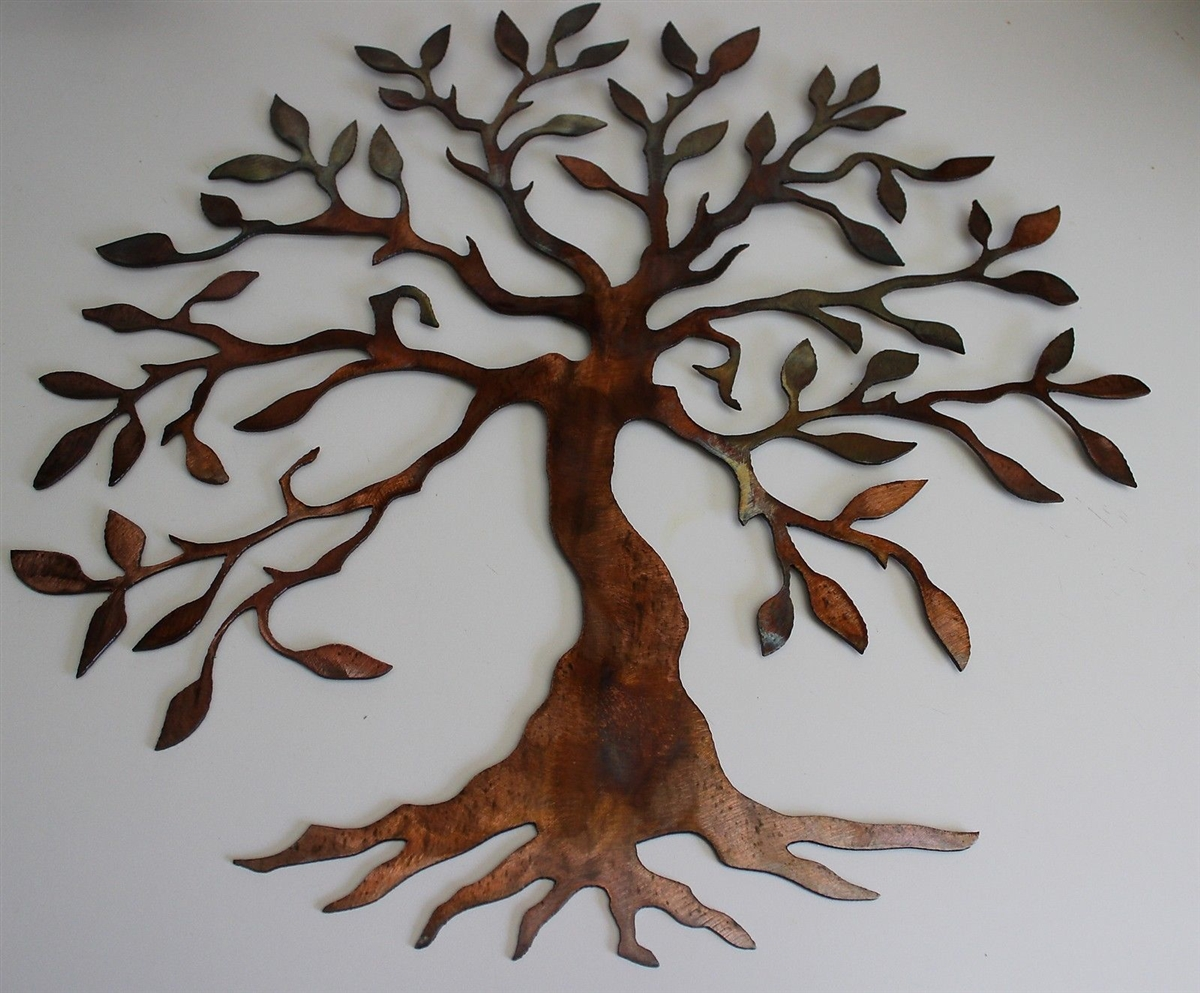 & Olive Tree - Tree of Life Metal Wall Art