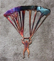 Parachute Jumper Metal Wall Art