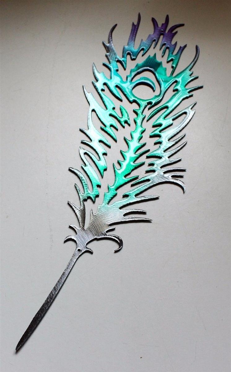 New Peacock metal art Metal Art Feathers II23