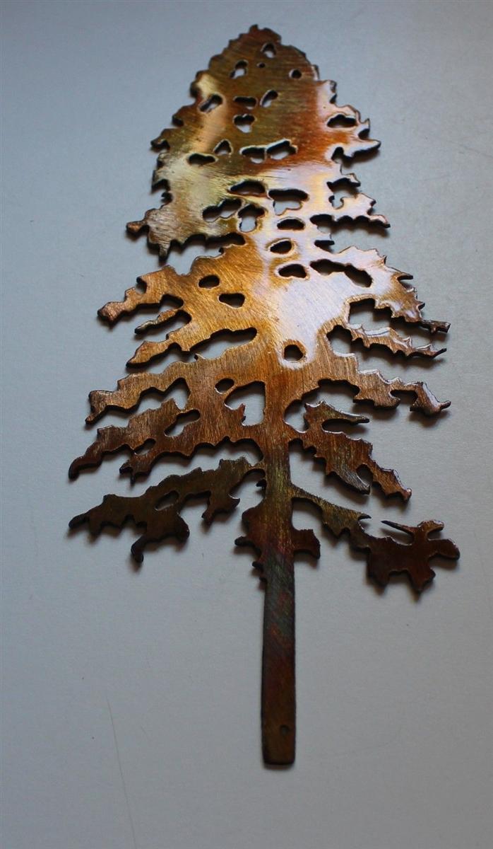 Art Décor: Outdoor Pine Tree 1 Metal Wall Art Decor