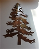 Outdoor Pine Tree 2 Metal Wall Art Decor