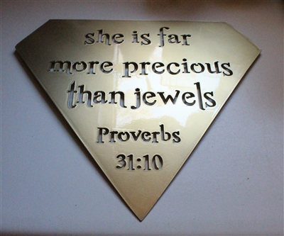 Proverbs 31:10 Metal Wall Art Decor
