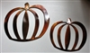 Pumpkin Pair Metal Wall Art Decor