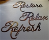 """Relax Refresh Restore"" Metal Word Art"
