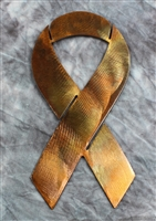 Awareness Ribbon Metal Wall Art