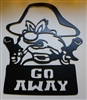 Yosemite Sam 'Go Away' Metal Wall Art