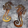 Seahorse Ornamental Pair Metal Art