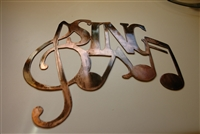 Sing Metal Wall Art