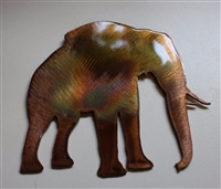 Elephant Metal Wall Art Accent