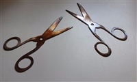 Small Scissors (2) Metal Wall Art Decor Copper/Bronze Plated