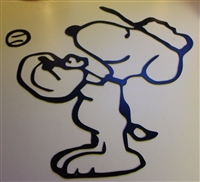 Snoopy plays Baseball Metal Wall Art (2 Pieces)