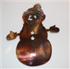 Winter Snowman Metal Wall Art
