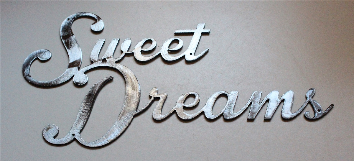 Sweet Dreams Metal Wall Art Silver Decor Accents