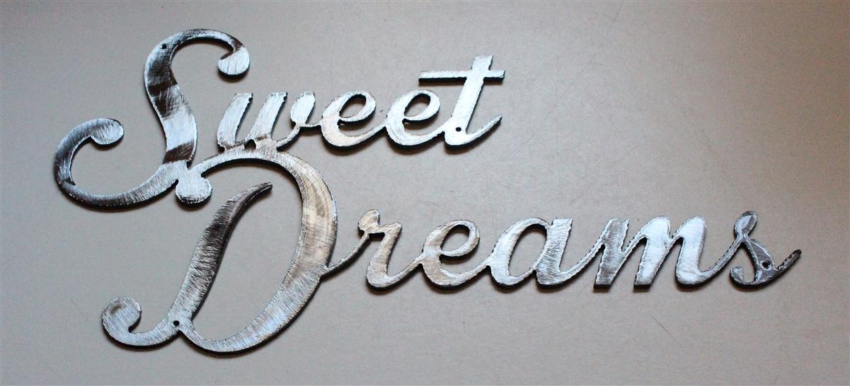 Sweet Dreams Metal Wall Art Silver Decor/Accents