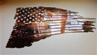 Tattered American Flag Metal Wall Art