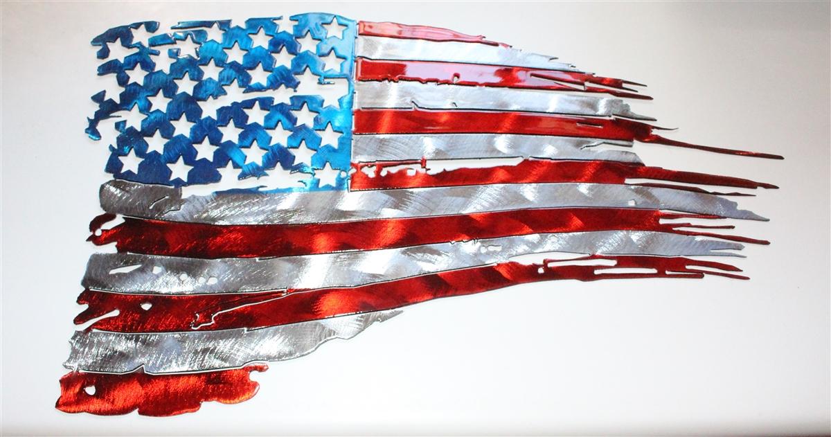 Flag Metal Wall Art American Flag Metal Wall Art