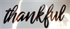 thankful metal wall art decor