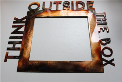 Think Outside of the Box Metal Art