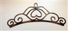 metal wall art tiara accent