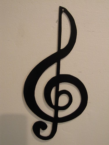 Treble Clef Musical Note Metal Wall Art