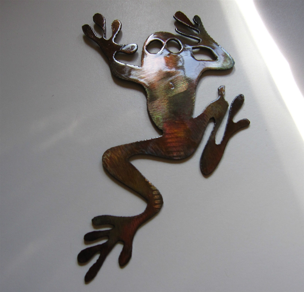 Rainforest Tree Frog Metal Wall Art & Tree Climbing Frog Metal Art