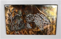 Metal Wall Art Canvas Swimming Turtle Metal Art