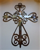 Western Ornamental Cross Metal Wall Art Decor