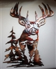 Whitetail Deer Metal Wall Art Decor