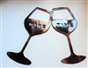 Wine Time  Glasses Metal Wall Art
