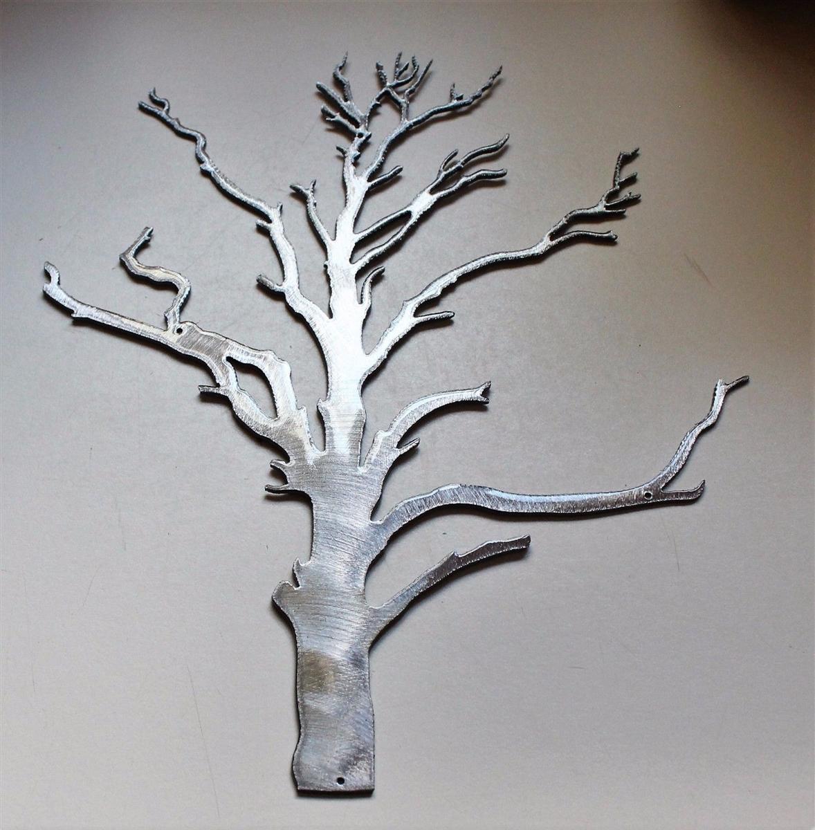 Winter Tree Metal Wall Decor Accent