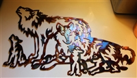 Wolf Family Metal Wall Art