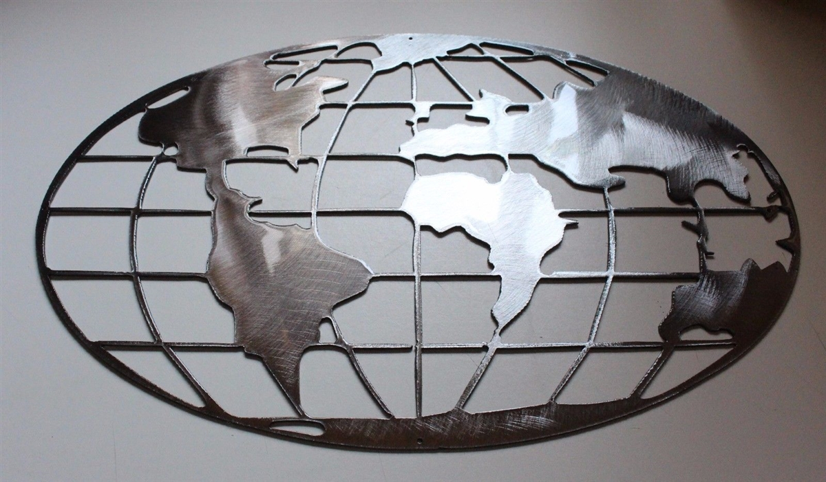 Email metal art world map polished silver multiple sizes gumiabroncs Image collections