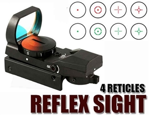 TRINITY Reflex Red And Green Sight With 4 Reticles For Tactical Paintball Markers/018227557634
