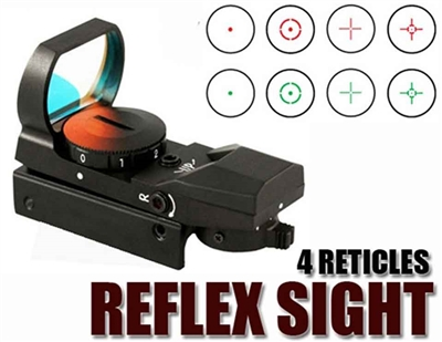 Trinity reflex red and green sight with 4 reticles for tactical markers paintballing optics woodsball paintballer accessory.