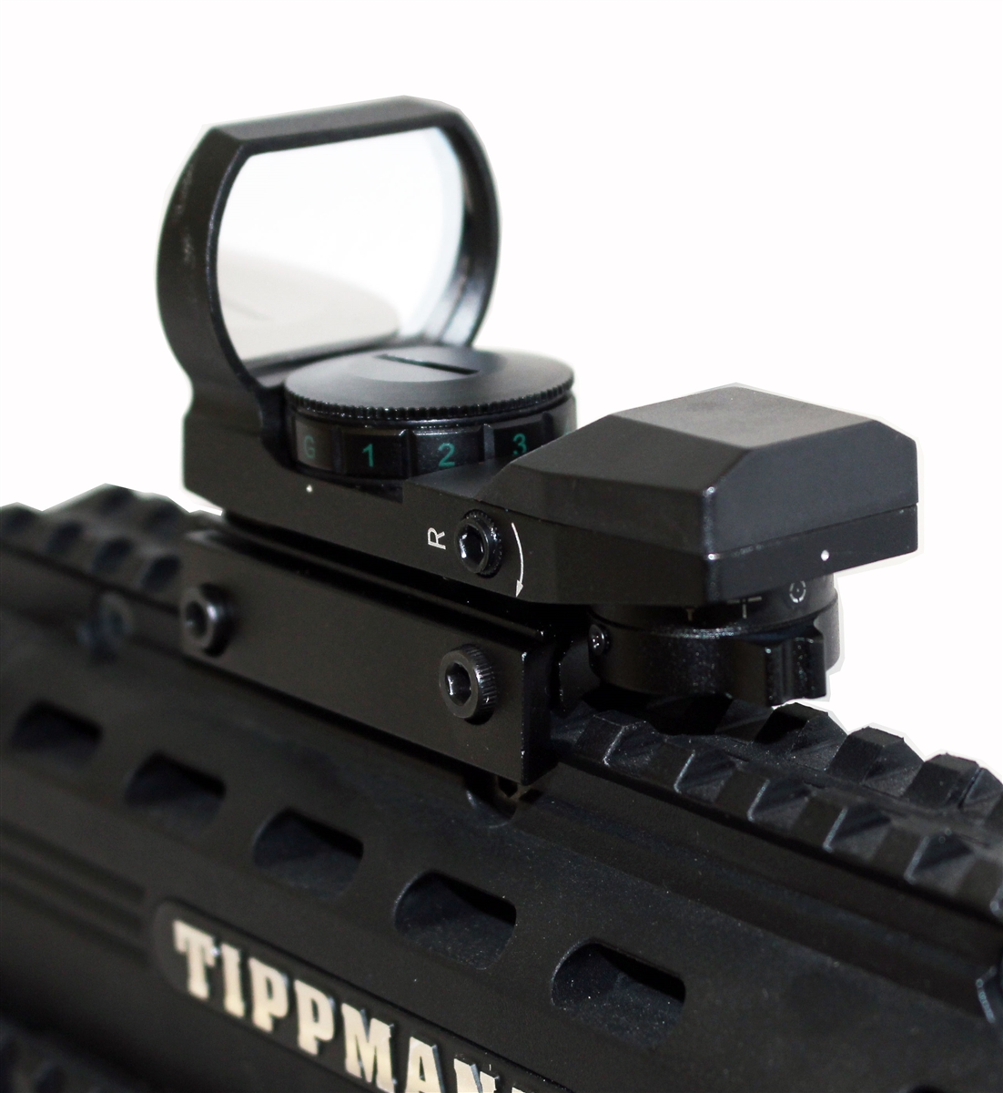 Reflex Red And Green Sight With 4 Reticles For Tactical Markers