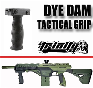 Trinity tactical grip handle black for dye dam paintball marker paintballing gear woodsball paintballer equipment.