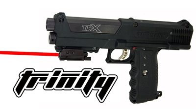 Trinity weaver mounted red dot sight for tippmann tipx aluminum black paintball optics paintballing woodsball accessory paintballer equipment.