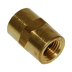 Brass Coupling Adapter Fitting 1/4 Inch x 1/4 Inch NPT Female - FPC440
