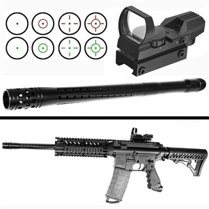 Tippmann tmc barrel and reflex sight kit.