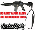Trinity bungee single point sling for tippmann alpha black elite paintball marker paintballing woodsball gear.