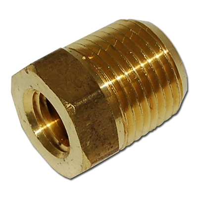 1/2 Inch MPT x 1/4 Inch FPT Brass Hex Bushing/FB804