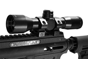 Trinity tactical scope for tippmann alpha black elite paintballing optics 4x32 mildot reticle aluminum black paintballer woodsball equipment.