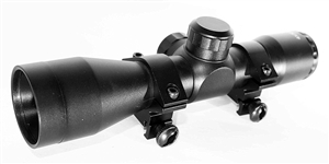 Trinity 4X32 scope for dye dam paintball marker paintballing optics mildot reticle aluminum black woodsball paintballer equipment.