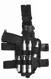 Trinity tactical adjustable leg holster for paintball markers paintballing woodsball gear.